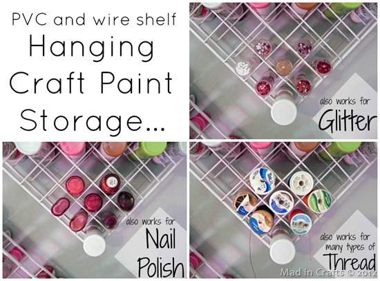 hanging paint storage also works for