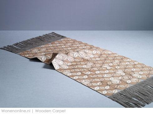 Wonenonline houten tapijt - Tapijt badkamer hout ...