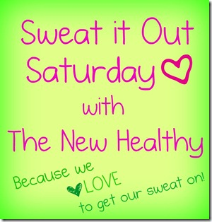 sweat it out saturday button