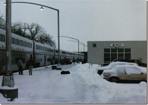 Amtrak Depot in Minot, North Dakota in December 2002