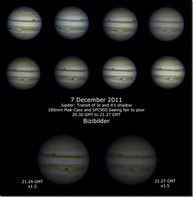 2011 December 7 Jupiter and Io