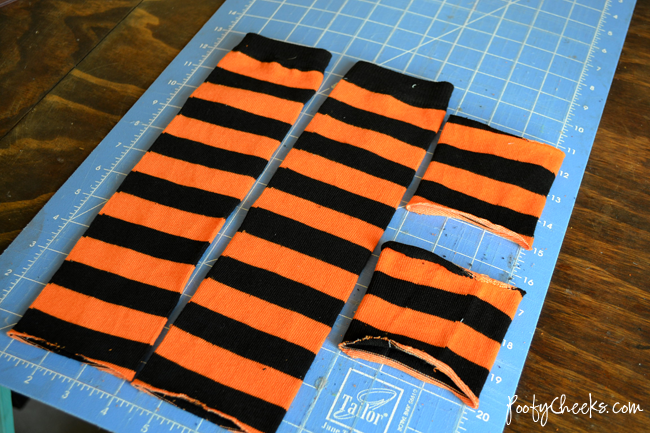 Turn socks into baby leg warmers #baby