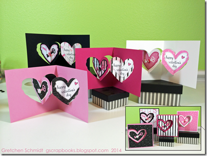Happy Valentines Day cards by @gscrapbooks