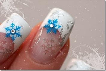 modele unghii cu gel de iarna