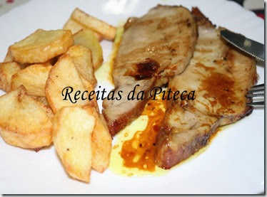 Lombo de porco com Porto e mostarda com mel-empratado