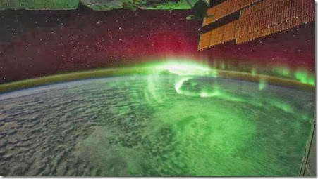 Aurora Borealis from the International Space Station