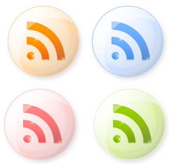 RSS icons orbs