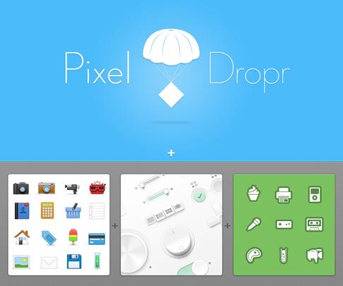 Pixel Dropr - editor intuitivo para arrastrar y soltar objetos