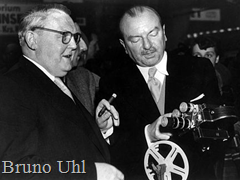 Photokina 1951 - Germany's Economics Minister Ludwig Erhard with Agfa-chief Bruno Uhl