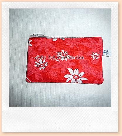 Porte-Monnaie Flowers Rouge