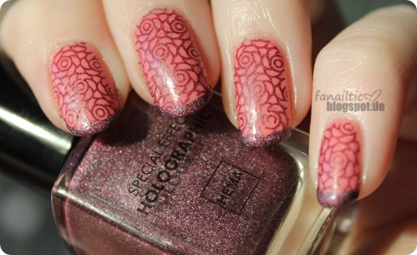 "Manhattan ""runway rose"" + hema ""bordeaux holo"""