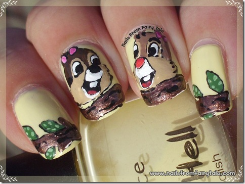 chip and dale nail art 3