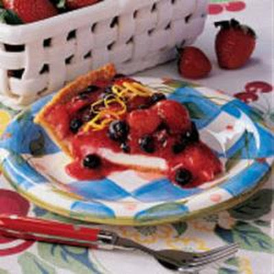 Summer Berry Cheese Pie