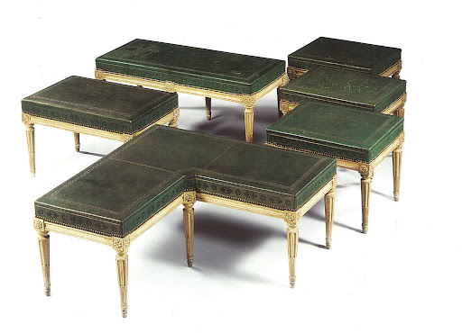 I would cross oceans and climb mountains for a set of these Louis XVI-style stools.