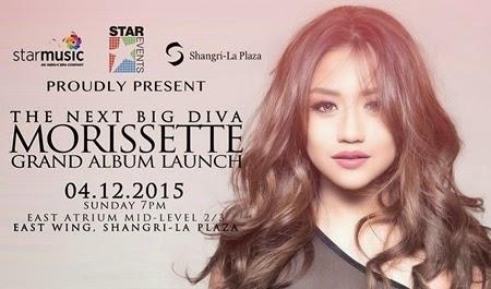 Morisette will have her grand album launch this Sunday at Shangri-La Plaza
