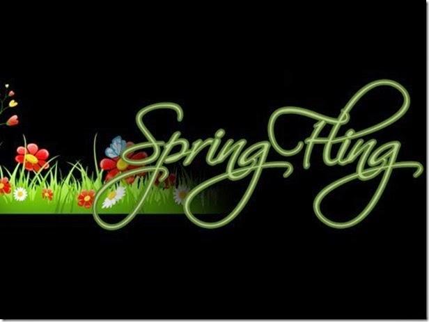 Spring Fling in black