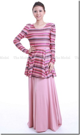 peplum tribal pink