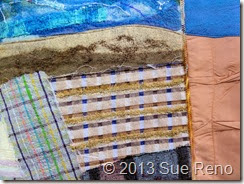 Sue Reno, In Dreams I Saw the Colors Change, Art Quilt, Work in Progress, Detail 2