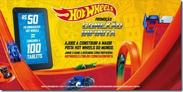 Promoção Conexão Infinita Hot Wheels