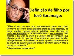 Filho, por José Saramago...