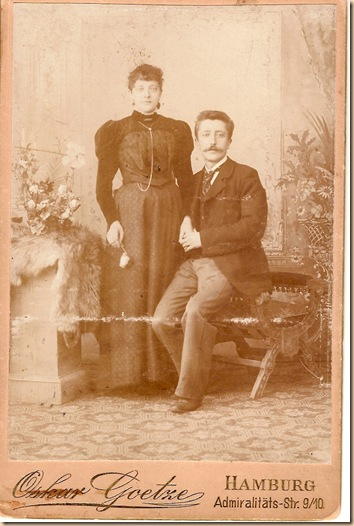 Anna Hackmann and Frederick Schridde circa 1890