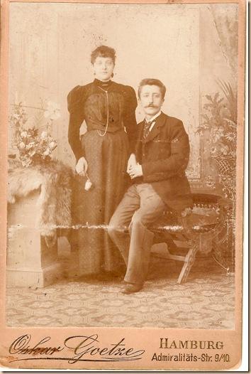 Anna Hackmann and Frederick Schridde circa 1890