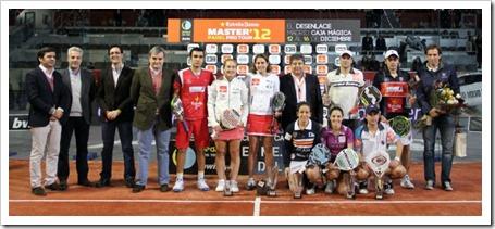Lima-Mieres y Navarro-Reiter maestros/as del Máster Estrella Damm 2012 en la Caja Mágica. Despedida del Circuito PPT.