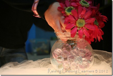 Light Table Play - Jewels, Tulle, and Flowers