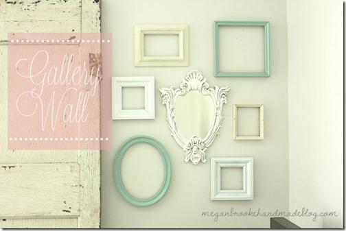 Megan Brook Handmade gllery wall