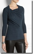 Vivienne Westwood Anglomania Draped Jersey Top