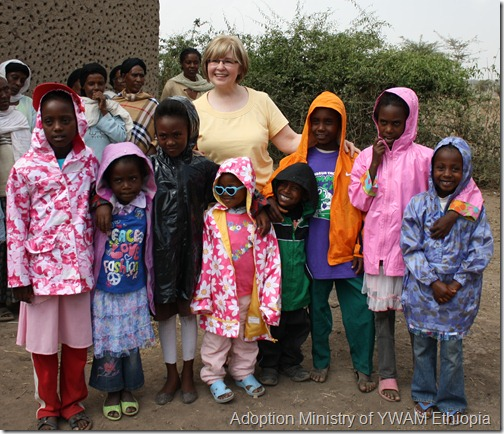 Joy with T'ede kiddos