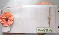 Beach journal back long envelope with flat orange flower