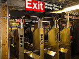 Exit from the subway