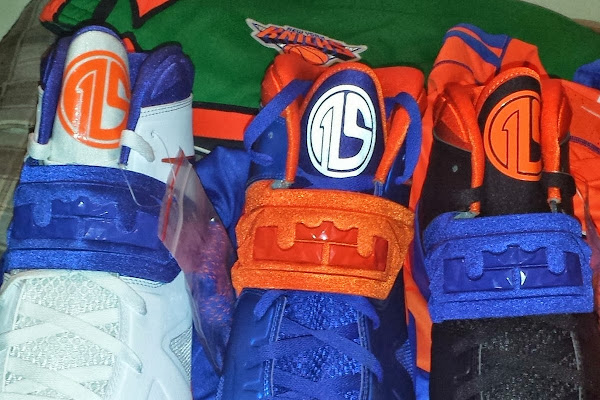 Amare Stoudemire Wears 1 of his 3 Soldier VII New York Knicks PEs
