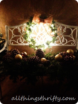 lit christmas wreath