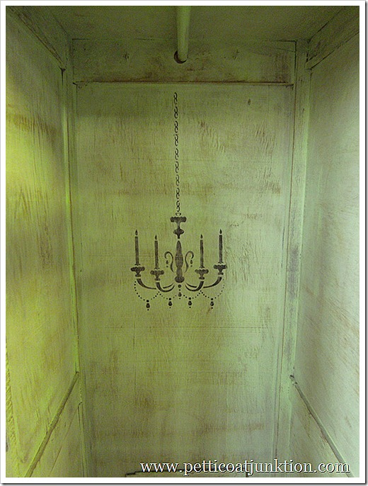 stenciled chandelier petticoat Junktion