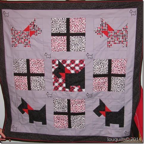 Fran Scottie Dog quilt