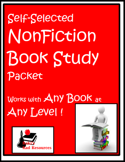 Resources to keep students reading books they enjoy while keeping them accountable for their learning.  Resources from Raki's Rad Resources - NonFiction Book Study