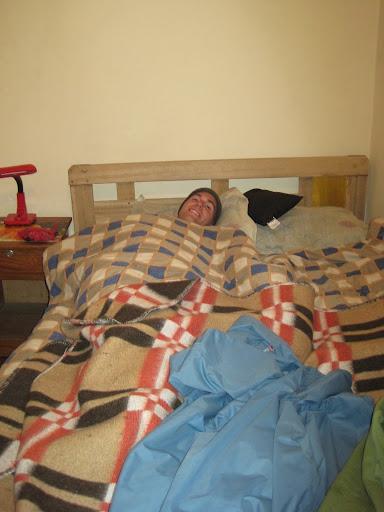 Sick in bed in La Paz.