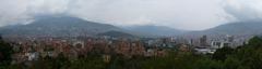 Medellin crawling up the valley walls from Cerro Nutibara.
