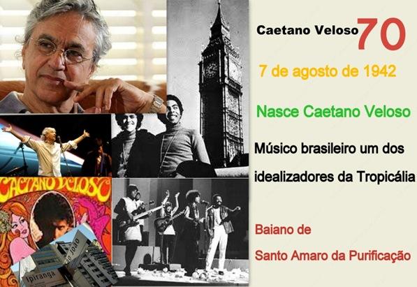 Colagem Caetano Veloso