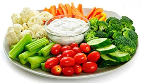 Verduras botanas saludables fiestas centros de mesa