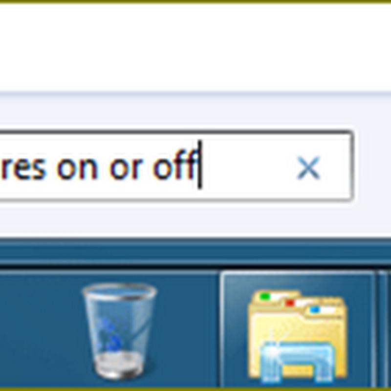 การลบ(Uninstall)โปรแกรม Internet Explorer จาก Windows 7