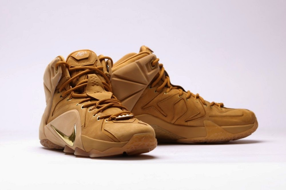 b9e647685b02 discount additional look at upcoming 8220wheat8221 nike lebron xii ext qs  3564b 5a905