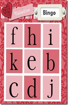 bingo card 1 to print