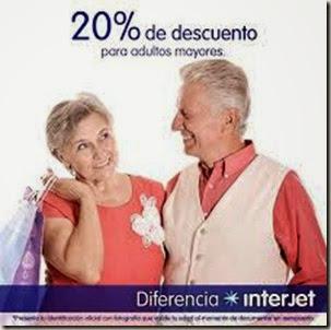 Adultos mayores con descuento en vuelos de avion por Interjet