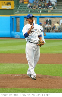 'Yovani Gallardo' photo (c) 2009, Steven Paluch - license: http://creativecommons.org/licenses/by/2.0/