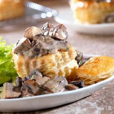 Wild Mushroom Ragout in Puff Pastry Shells