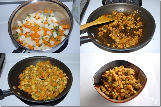 Vegetable stuffing process