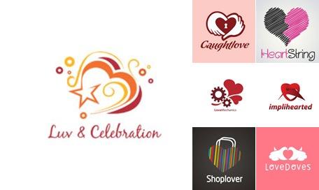 Ver Diseños de Logos alusivos al Día de San Valentín